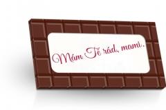 Mléčná čokoláda 50g - Mám Tě rád mami