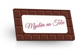 Mléčná čokoláda 50g - Myslím na Tebe