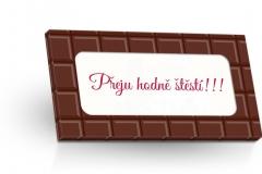 Mléčná čokoláda 50g - Přeju hodně štěstí