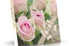 Belgická čokoládová srdíčka 200g - Růže