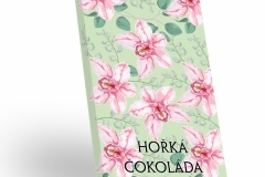 Růžové květy - hořká čokoláda 50g