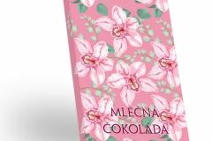 Růžové květy - mléčná čokoláda 50g